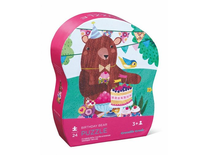 Mini puzzle - Medvědí narozeniny (24 ks) / Mini Puzzle - Birthday Bear (24 pc)