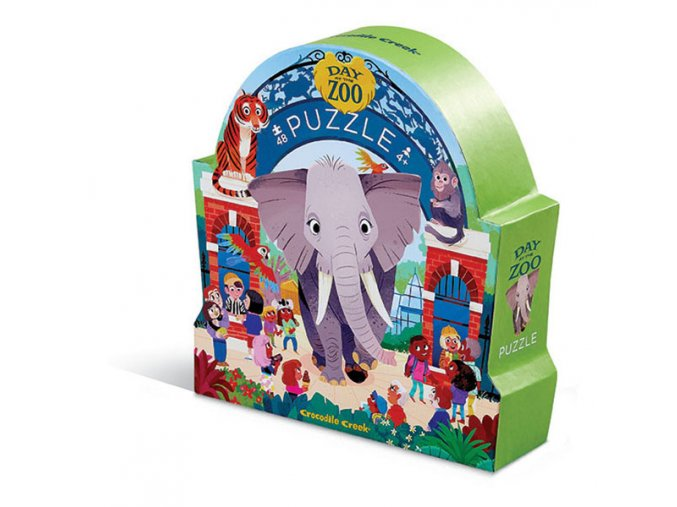 48 shaped puzzle/Day at the ZOO