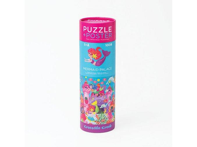 Puzzle a plakát Mořské panny 100 ks
