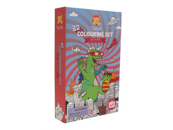 3D Colouring set - Sci-Fi fun