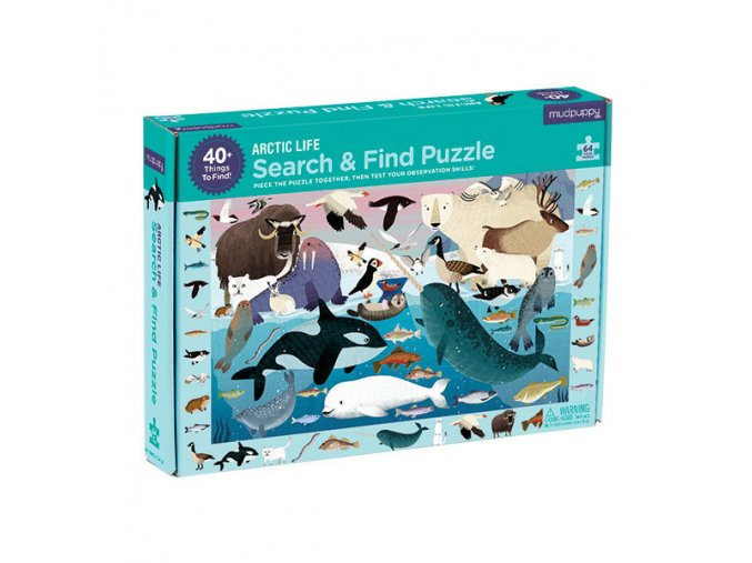 Search & Find Puzzle/Arctic Life (New) 64 PC