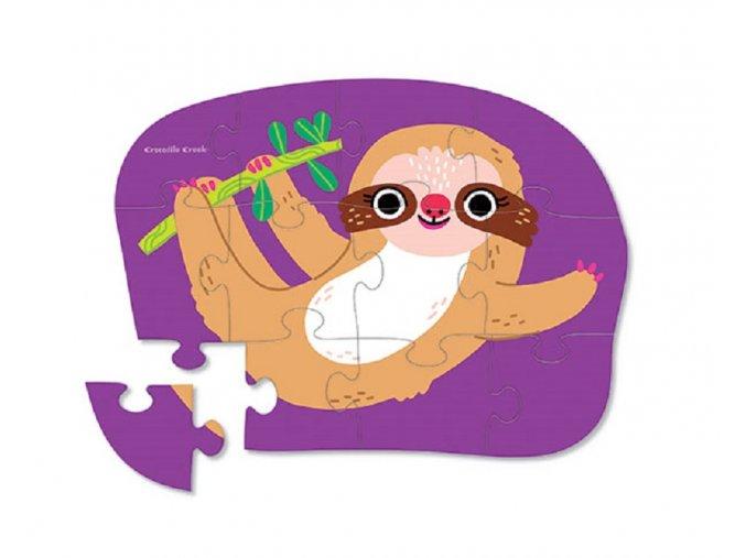 Mini puzzle - Lenochod (12 ks) / Mini Puzzle - Sloth (12 pc)