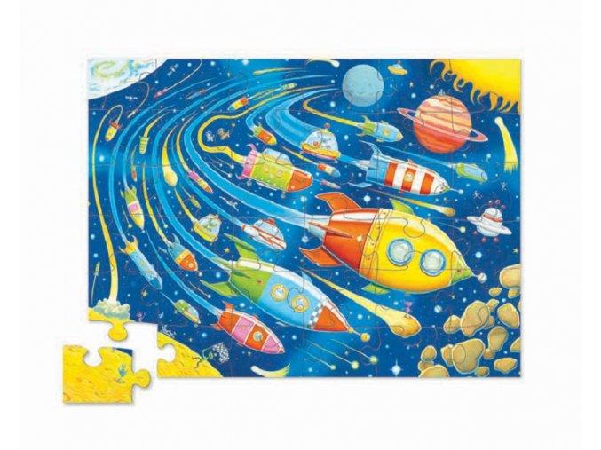 Puzzle - Vesmírný závod (36 dílků) / Shaped Puzzle - Space Race