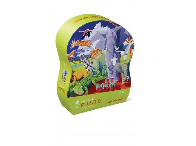 Puzzle - Divoké safari (72 dílků)
