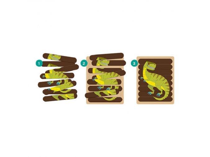 Puzzle tyčinky - Ohromní dinosauři /Puzzle Sticks - Mighty Dinosaurs