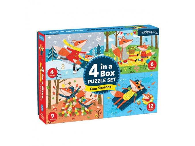 Puzzle 4 v 1 - Čtyři roční období / 4 in a Box - Four Seasons