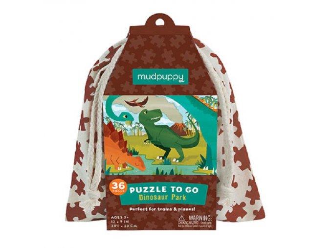 Puzzle na cesty - Dinosauří park / Puzzle To Go - Dinosaur Park (36 dílků)