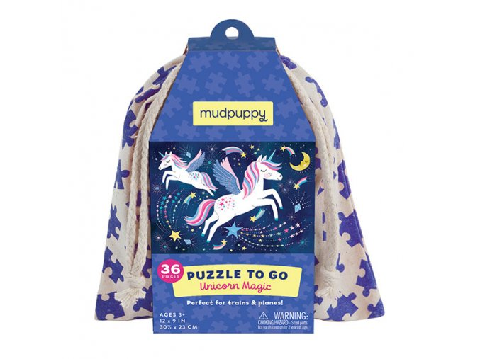 Puzzle na cesty - Kouzlo jednoročce / Puzzle To Go - Unicorn Magic (36 ks)