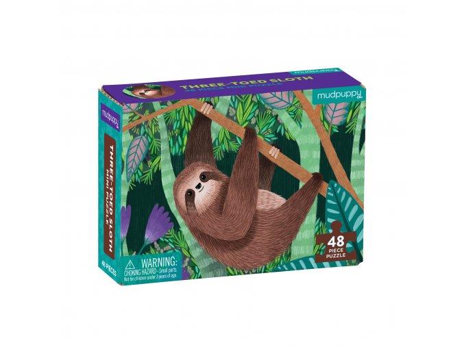 Mini puzzle -  Tříprstý lenochod / Puzzle Mini - Three-Toed Sloth (48 dílků)