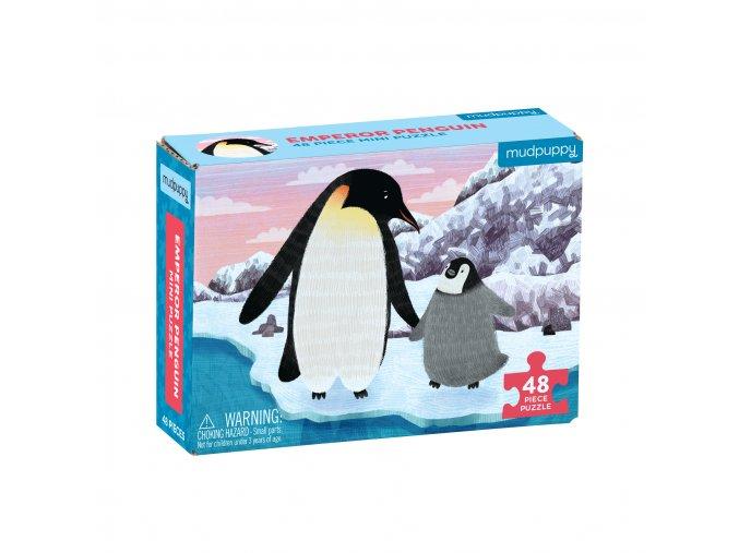 Mini puzzle - Tučňák královský / Puzzle Mini - Emperor Penguin (48 dílků)