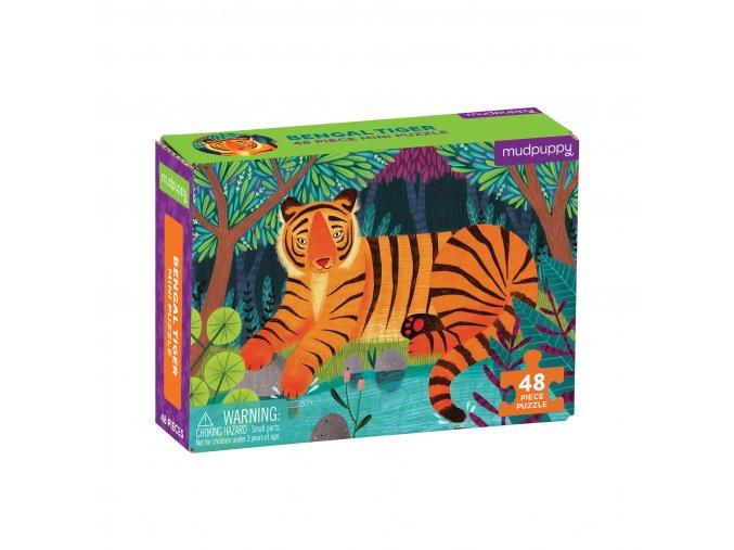 Mini puzzle - Tigr bengálksý / Puzzle Mini - Bengal Tiger (48 dílků)