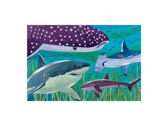 Foil puzzle - Žraloci (100 ks) / Foil Puzzle - Sharks (100 pc)