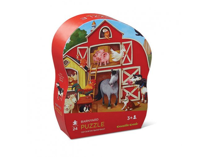 Mini puzzle - Dvorek (24 ks) / Mini Puzzle - Barnyard (24 pc)