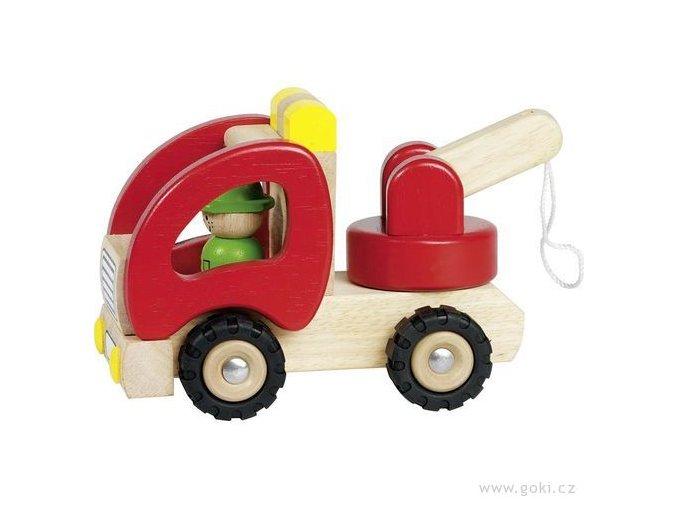 Dřevěné odtahovací autíčko