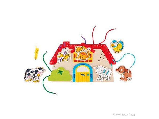 Provlékací motorická hračka - Farma