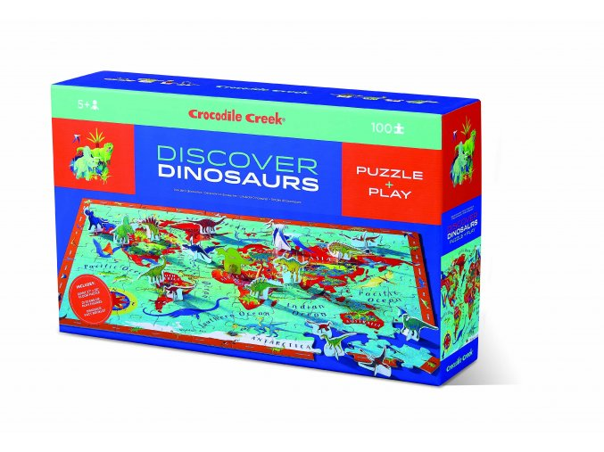Discover Puzzle Dinosauři (100 ks) / Discover Puzzle Dinosaurs (100 pcs)