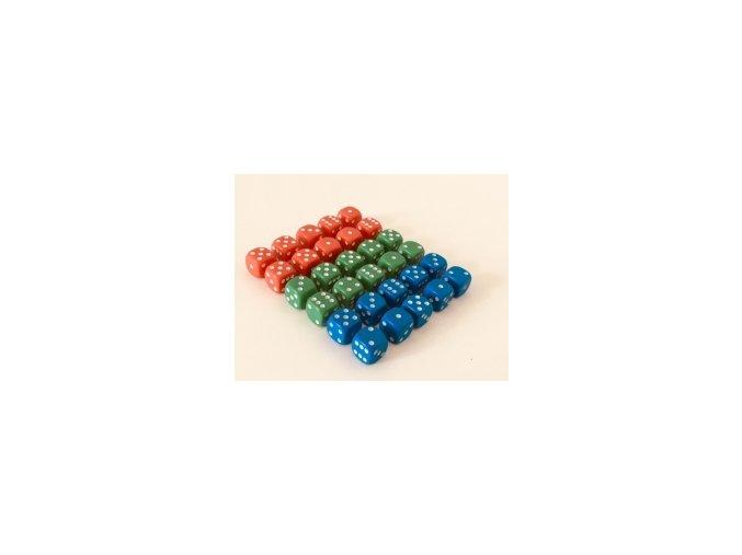 Hrací kostky - sada (30 ks)