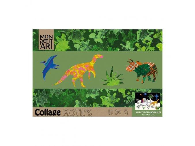 Mon Petit Art - koláž dinosauři
