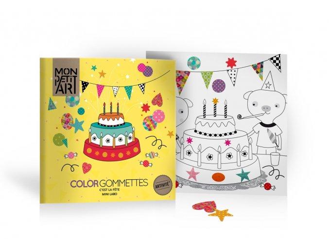 Mon Petit Art - omalovánky a nalepovačky oslava