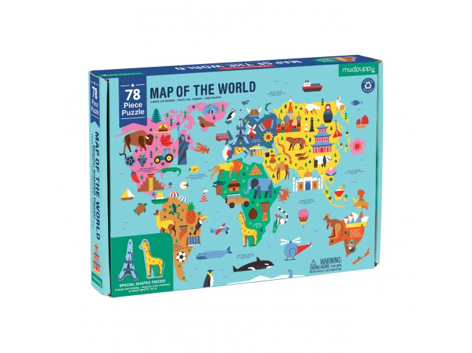 Geography Puzzle - Mapa světa (78 ks) / Map of the World