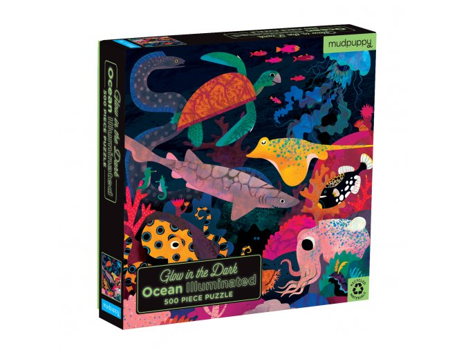 Svíticí puzzle - Oceán (500 ks) / Glow in the Dark Puzzle Ocean Illuminated (500 pc)