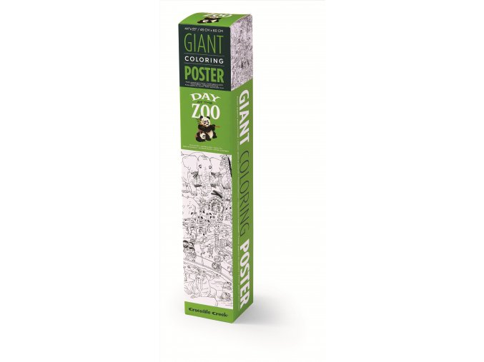 Giant Coloring Poster Box Zoo