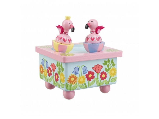 Hudební skříňka - Pelikán / Music Box - Flamingo