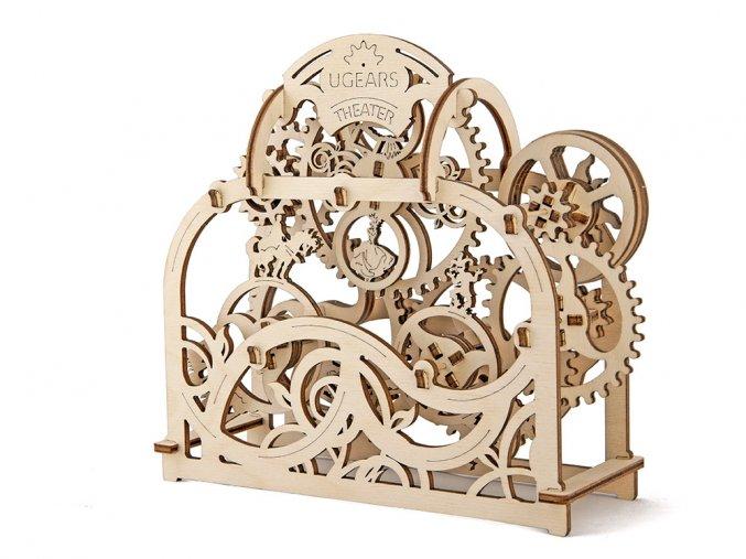 Dřevěné 3D mechanické puzzle divadlo
