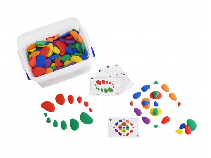 Duhové kamínky - set pro třídu / Rainbow Pebbles Classroom Set