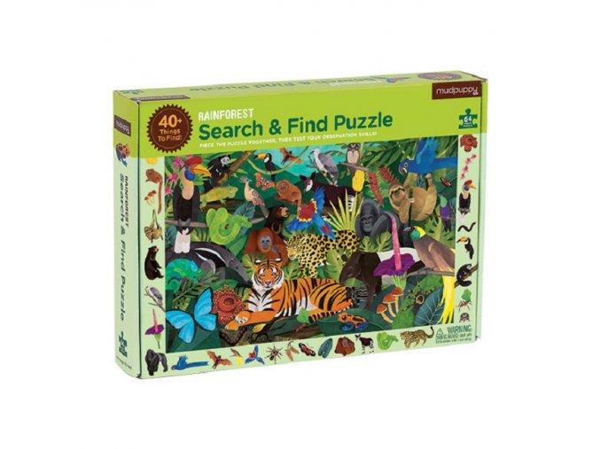 Search & Find Puzzle - Rainforest (64 pcs)