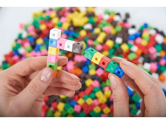 Spojovatelné kostky 1 cm 1000 ks / Interlocking Cubes 1CM PK1000