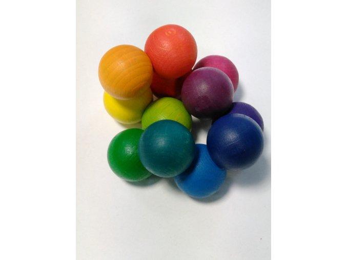 Barevné kuličky do ruky 30mm