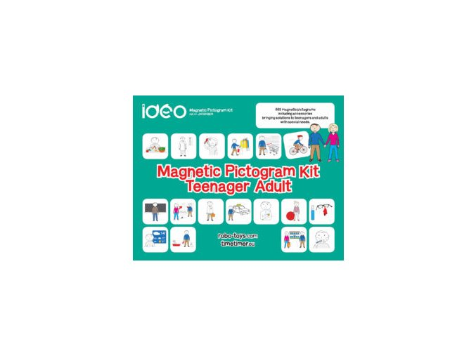 Set magnetických pigtogramů pro teenagery a dospělé / Magnetic Pictogram Kit Teenager-Adult