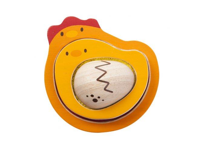 Plan Toys - Puzzle životní cyklus kuřete