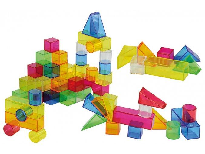Geometrické tvary průhledné (50 ks) / Translucent Colour Blocks (50 pc)
