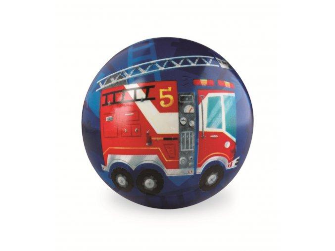 9857 mic 10 cm hasicske auto play ball 10 cm fire truck