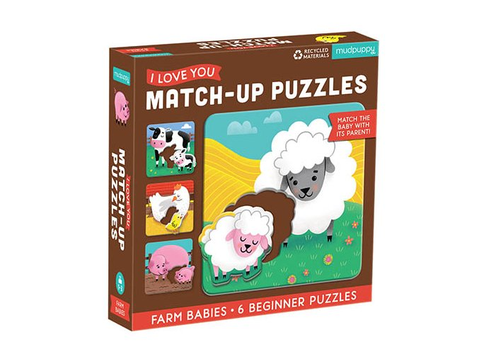 Match-Up Puzzle - Mláďata z farmy / Farm Babies