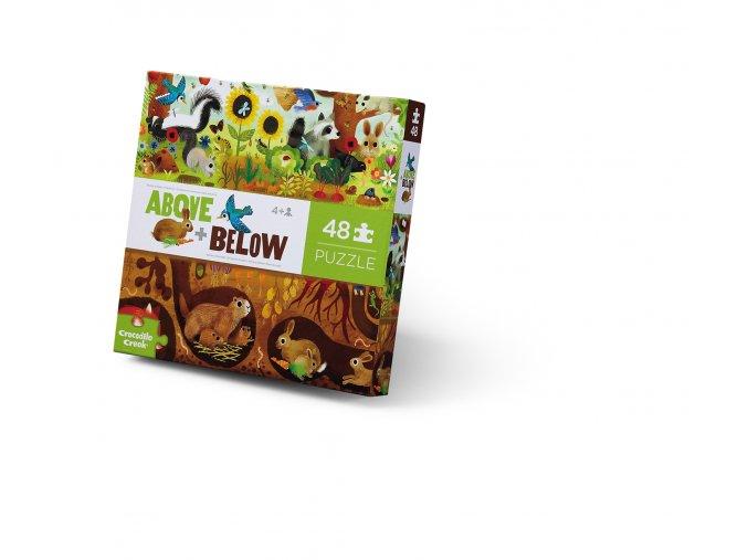 Nad zemí a pod zemí puzzle - Dvorek (48 ks) / Above & Below - Backyard (48 pc)