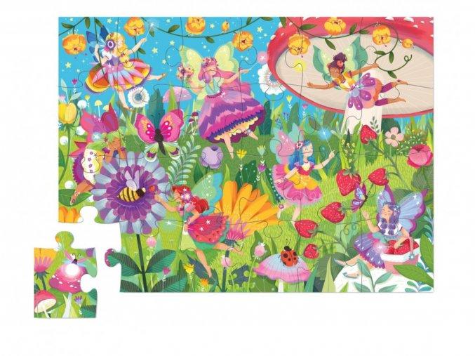 Puzzle mini tubus - Pohádková zahrada (24 dílků) / Mini Canister - Fairy Garden