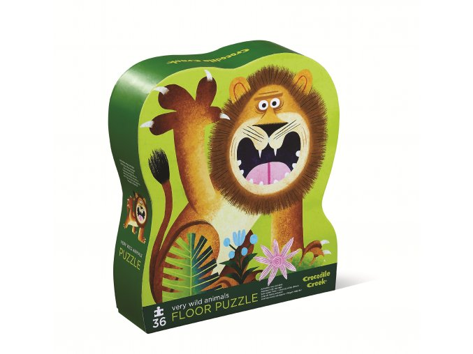 Puzzle - Divoká zvířata (36 dílků) / Shaped Puzzle - Very Wild Animals