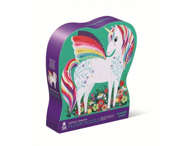 Tvarované puzzle - Sny jednorožce (36 dílků) / Shaped Puzzle - Unicorn Dreams