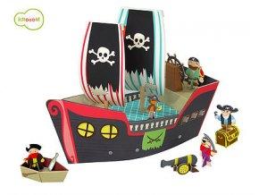Hrací set - pirátská loď