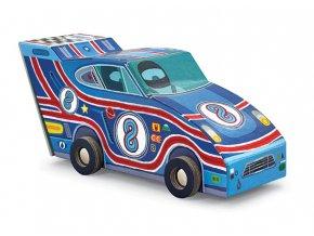 Sportovní auto a puzzle