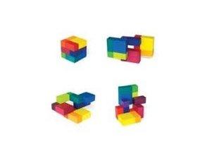 Barevné puzzle kostky-12 barev 6x6