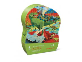 Mini puzzle - Země dinosaurů (24 ks) / Mini puzzle - Land of Dinousaurs (24 pc)