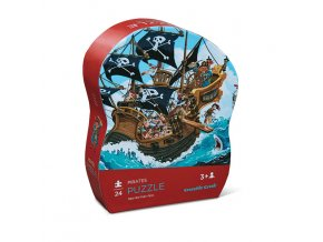 Mini puzzle - Pirátská loď (24 ks) / Mini puzzle - Pirates boat (24 pc)
