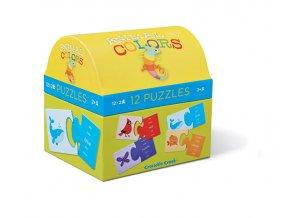 Puzzle truhlička - Barvy zvířat