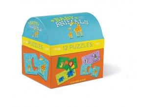 Puzzle truhlička - Mláďata zvířat