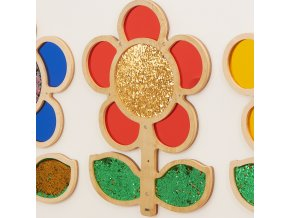 10583 mark making sequin and mirror daisy frame red