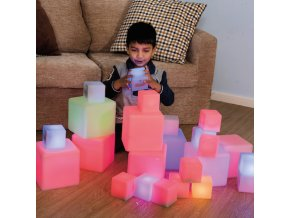 10598 sensory ict glow construction blocks cubes 12pk